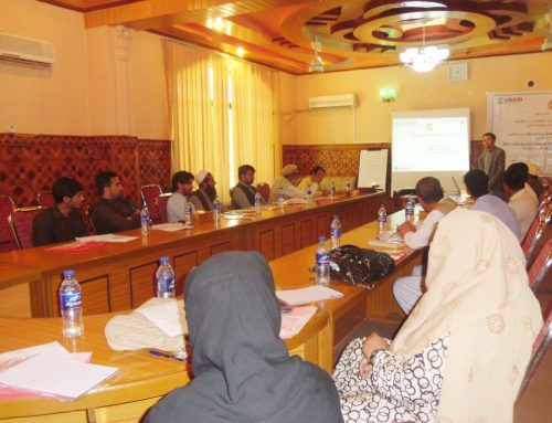Disability Inclusion in Primary and Higher Education Workshop in Nangarhar province