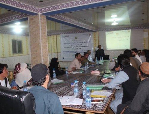Workshop in Kandahar province on 15 August 2018